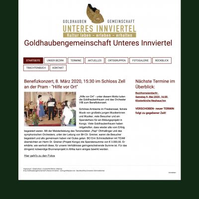 Homepage Goldhauben Unteres Innviertel