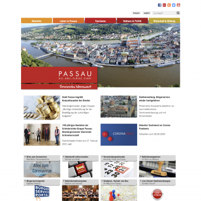 Homepage Stadt Passau